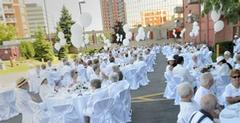 Les Jardins de Renoir 25th anniversary was celebrated all in white