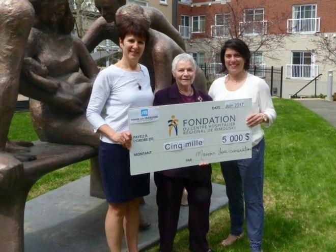 Le Manoir les Générations donne à la Fondation du Centre hospitalier régional de Rimouski