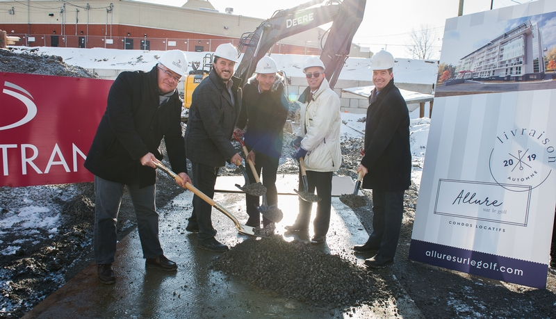 ALLURE SUR LE GOLF: Work starts on a new residential project of high-end rental condos in Laval