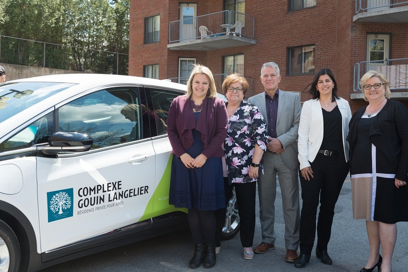 LAUNCH OF AN ELECTRIC CAR SERVICE FOR RESIDENTS OF COMPLEXE GOUIN-LANGELIER