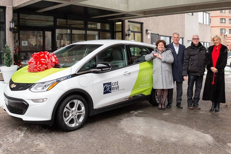 LAUNCH OF THE ELECTRIC CAR SHARING SERVICE  FOR CITÉ RIVE PRIVATE RETIREMENT HOME