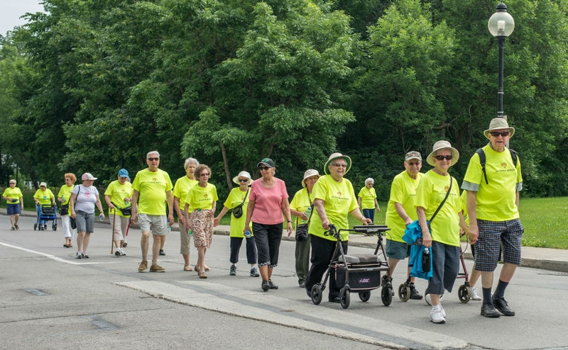 The Grand Healthy Aging Walk the Gouin Boulevard in Montréal